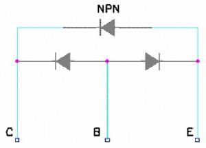 Figura 13 - Diodo colocado entre Coletor e Emissor