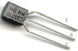 Figura 7 - Foto de um transistor BC 337
